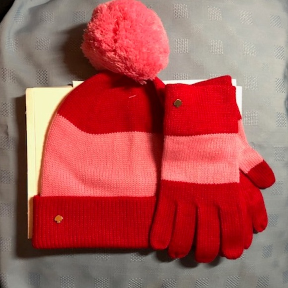 2a76881fe1804 Kate Spade Color Block Beanie and gloves.
